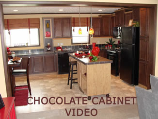 Chocolate cabinets