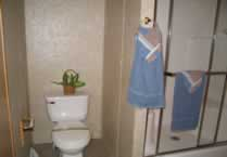Larger shower and privacy area for toilet